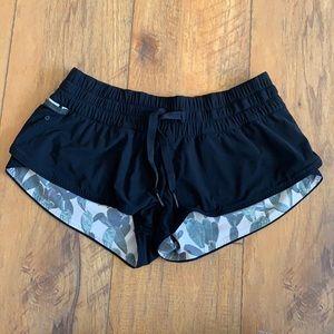 Lululemon Surf Shorts Reversible Black Cactus